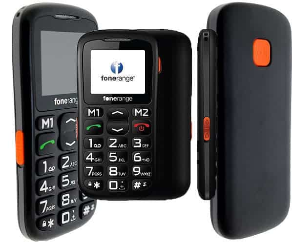 The Basic Big Friendly Mobile Phone with SOS By Fonerange