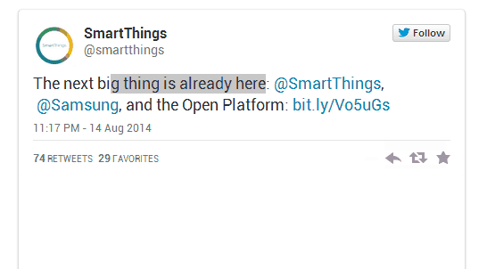 Samsung Gets Serious About Smart Homes: Buys SmartThings