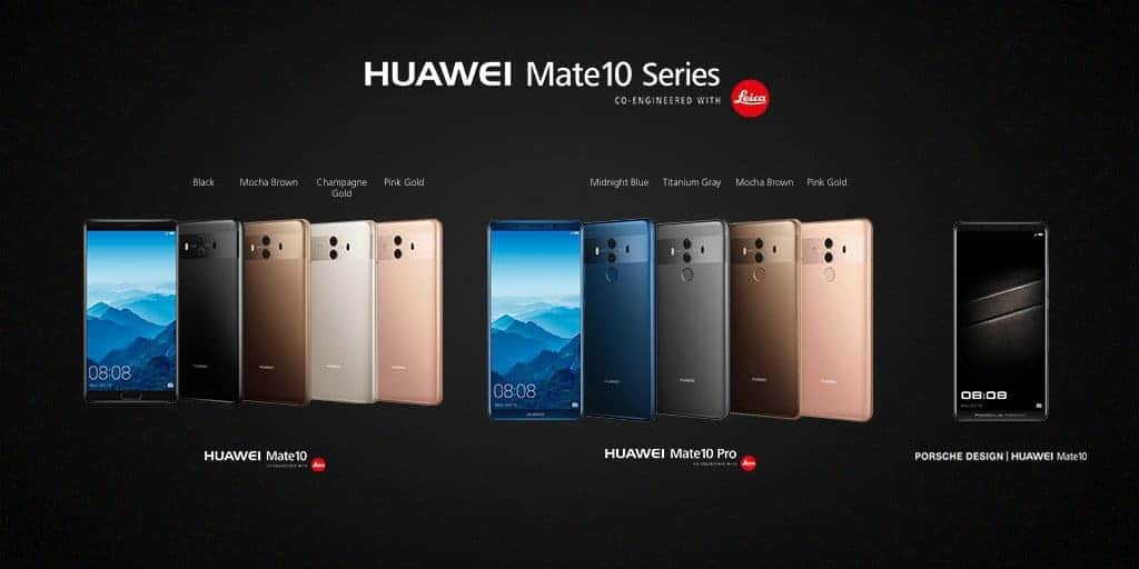 Huawei Mate 10 & Mate 10 Pro Announced with 4,000 mAh battery