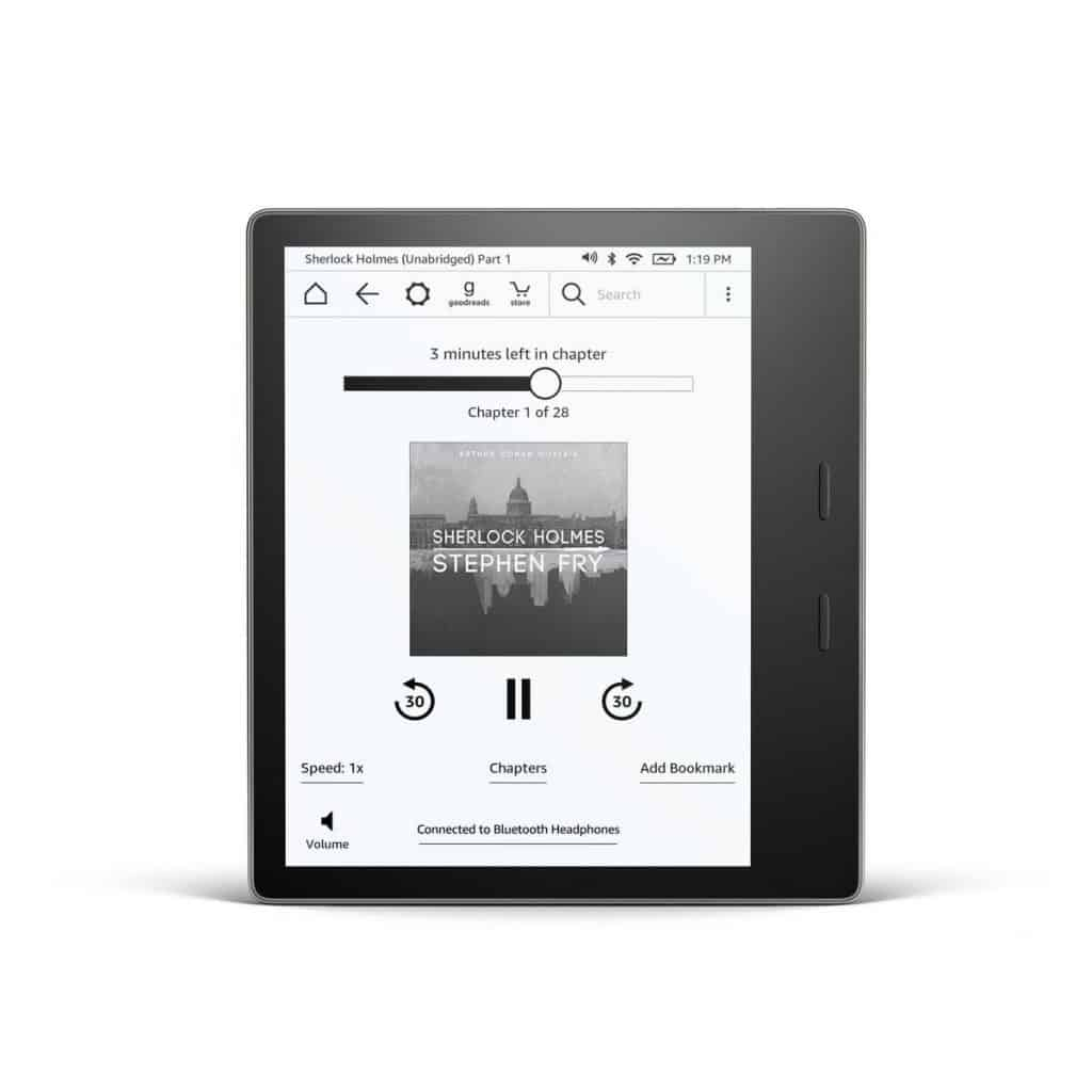 New Kindle Oasis announced that is waterproof and with Audible 2