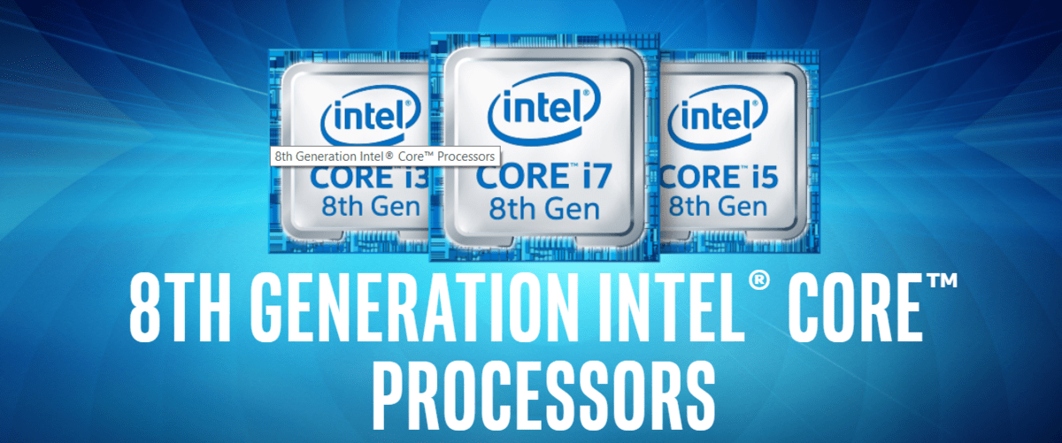 New 8-Gen Intel Mobile CPUs Announced – includes 6-core i9-8950K that can be overclocked