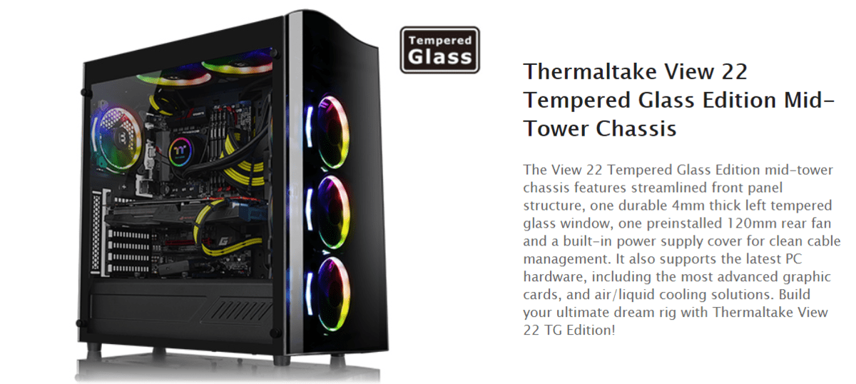 Thermaltake View 22 TG Tempered Glass Review