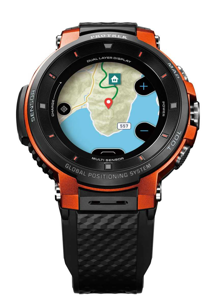 Casio announce WSD-F30 PRO TREK Smart with Colour Maps  Usable for Up to Three Days 5