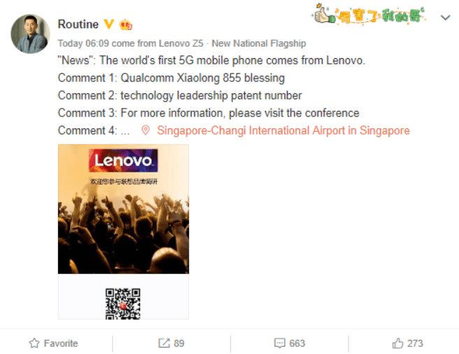 Lenovo claims it will launch world's first 5G phone with Qualcomm Snapdragon 855 2