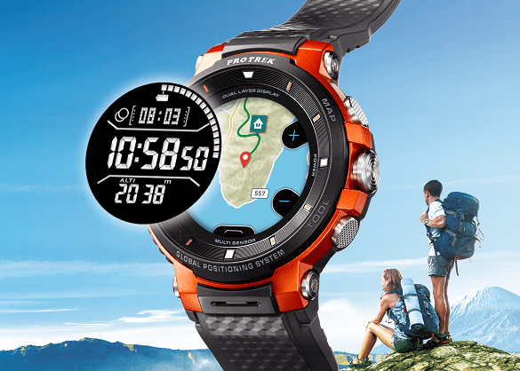 Casio announce WSD-F30 PRO TREK Smart with Colour Maps  Usable for Up to Three Days 4