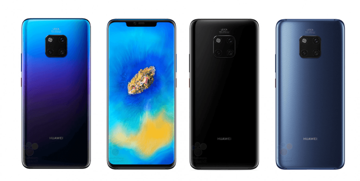Huawei Mate 20 Pro Specification Leaks ramp up: Graphene cooling, nanoSD, 40W Super Charge 2.0, 4,200mAh battery & ultra wide-angle lens