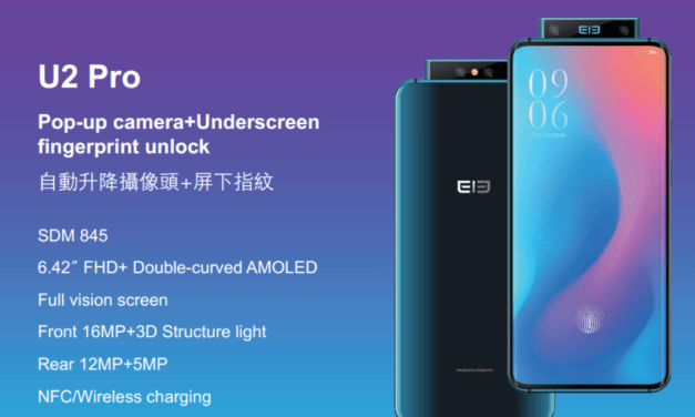 Elephone U2 Pro – another pop up camera phone with in-display fingerprint