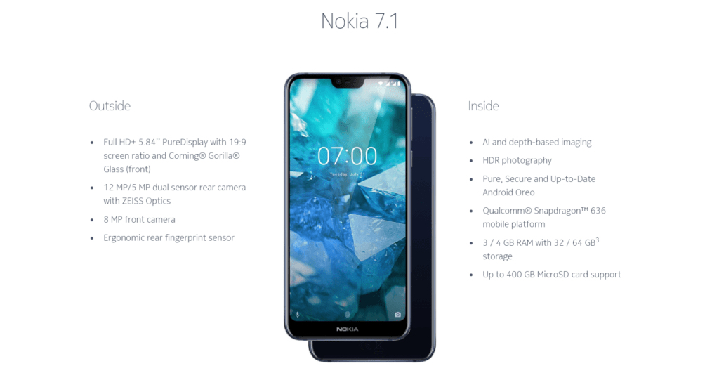 HMD Nokia 7 1 Launched with 5 84-inch screen, Snapdragon 636