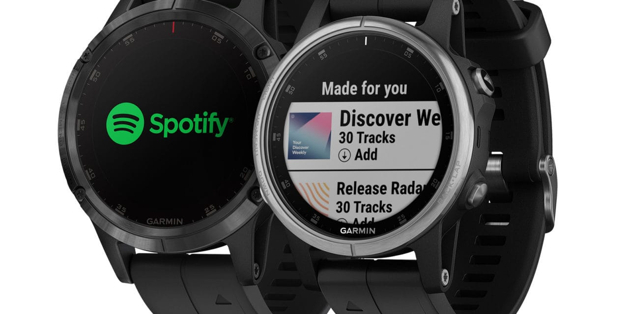 Spotify now available on Garmin Music watches (Fenix 5 Plus & Forerunner 645 Music)