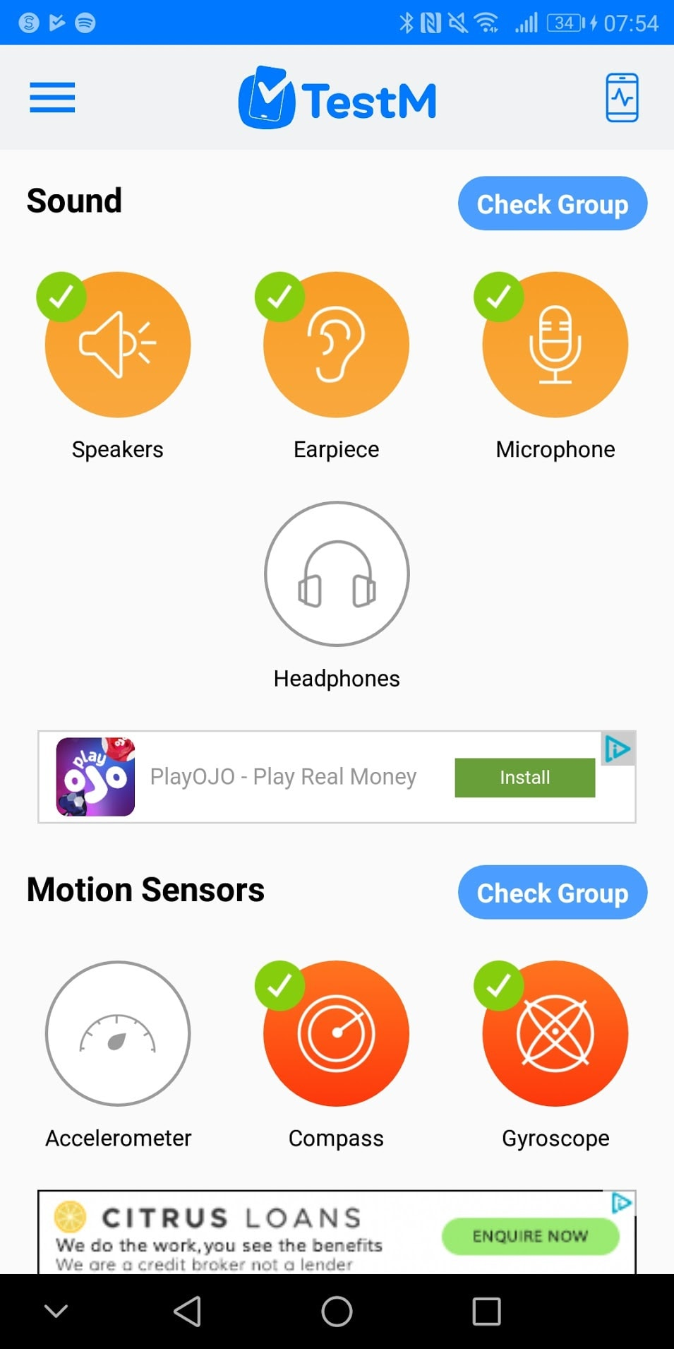 TestM Review – An app to test a used phone for errors