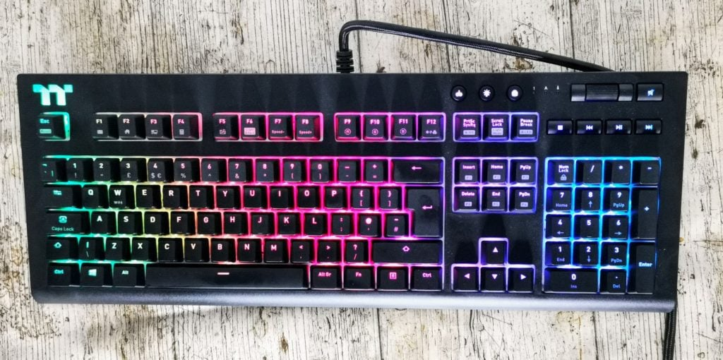 Thermaltake Tt Premium X1 Rgb Cherry Blue Switch Mechanical Gaming Keyboard Mighty Gadget Blog Uk Technology News And Reviews