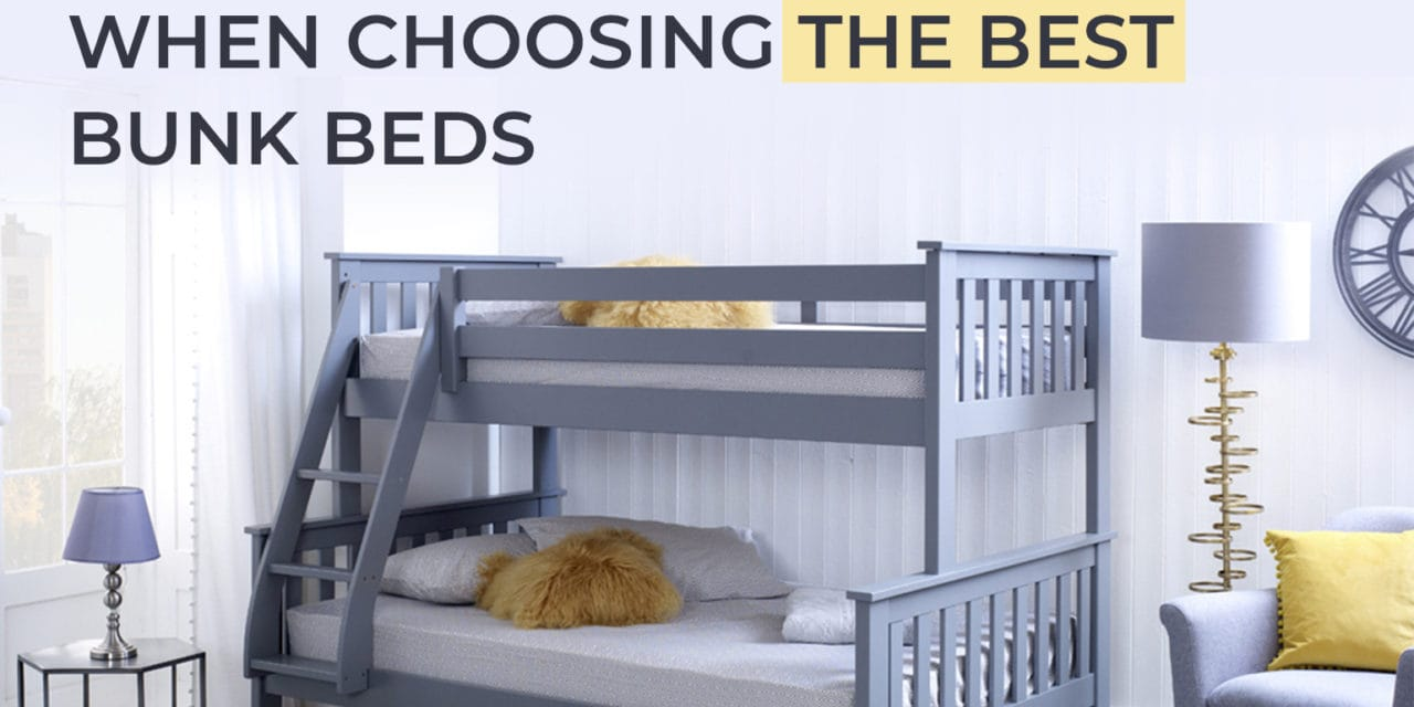 Things To Take Into Account When Choosing The Best Bunk Beds
