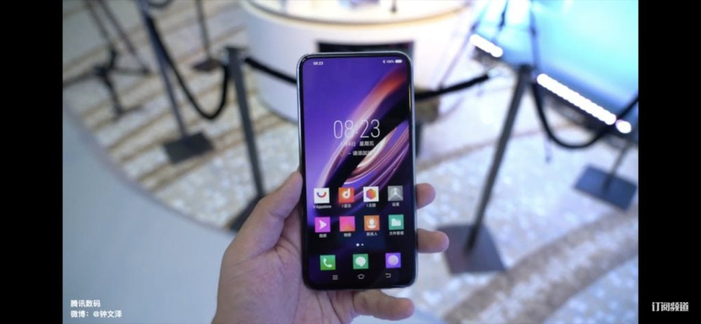 Vivo Apex 2019 has glass body, no ports, buttons and used a magnetic charger 2