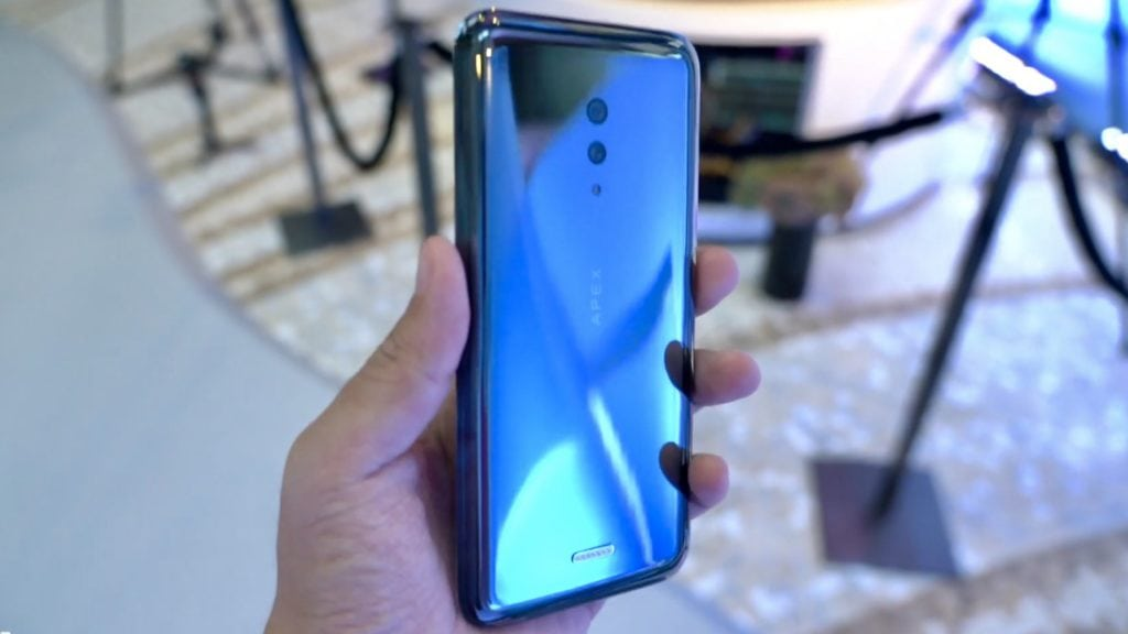Vivo Apex 2019 has glass body, no ports, buttons and used a magnetic charger 3