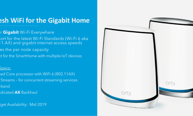 Netgear Orbi RBK50 Whole-Home Mesh Wi-Fi gains Wi-Fi 6 802.11ax support for gigabit speeds
