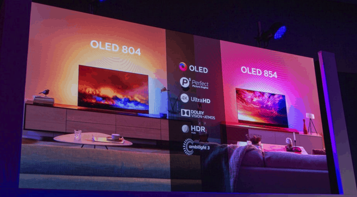 Philips Announces 804 and 854 OLED TVs for 2019 with Dolby Vision and Atmos