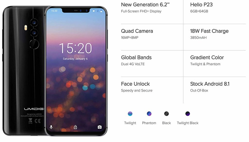 Umidigi Z2 Budget Smartphone Review - £175 notched full-screen display with dual rear & front cameras 1