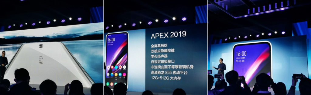 Vivo Apex 2019 has glass body, no ports, buttons and used a magnetic charger 1