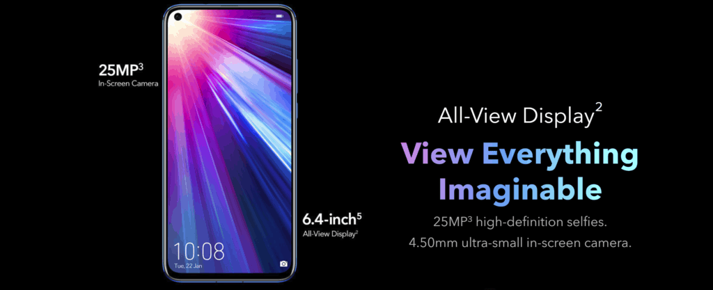 Honor View 20 goes official. £499 + free Honor Watch Magic 2