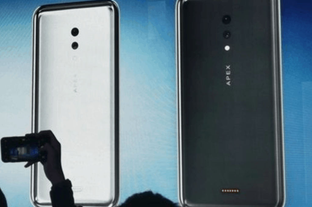 Vivo Apex 2019 has glass body, no ports, buttons and used a magnetic charger 4
