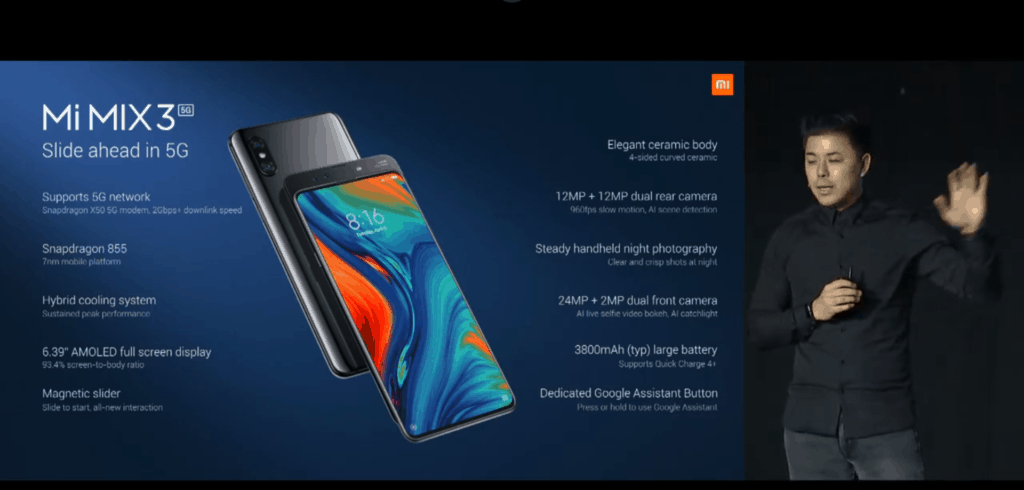 Xiaomi announce Mix 35G device at #MWC19 priced at £520 available from May 2