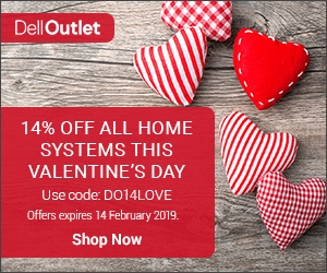 Dell Valentines Deals – 14% off – XPS 15 9570 for £964.95, G3 15 for £647.28 or G5 15 5587 with GTX1060 for-£1,072.29 6