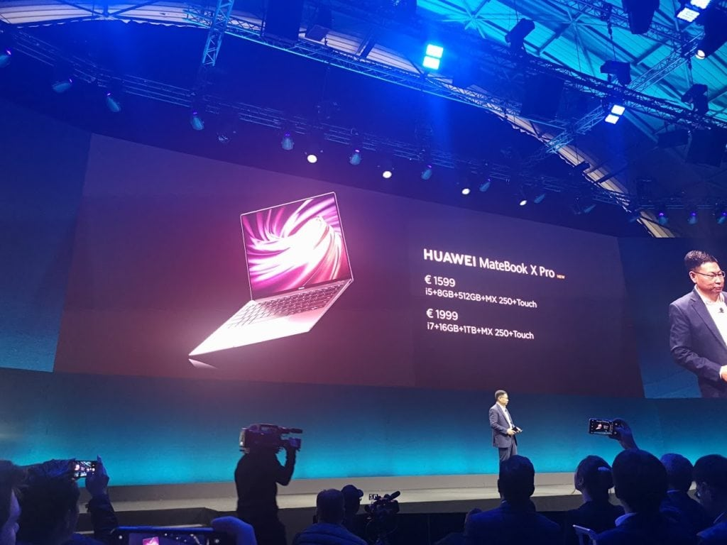 Huawei Matebook X Pro refreshed for 2019 with i7 8565u & Nvidia MX250 2GB. Plus new OneHop NFC sharing tech 4