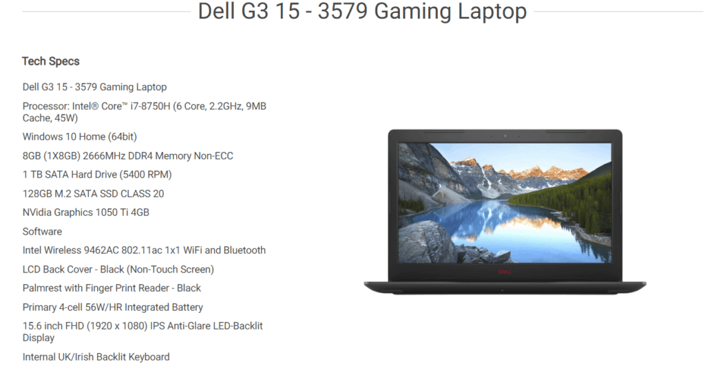 Dell Valentines Deals – 14% off – XPS 15 9570 for £964.95, G3 15 for £647.28 or G5 15 5587 with GTX1060 for-£1,072.29 5