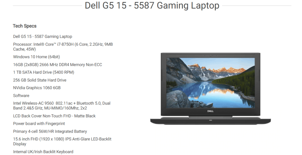 Dell Valentines Deals – 14% off – XPS 15 9570 for £964.95, G3 15 for £647.28 or G5 15 5587 with GTX1060 for-£1,072.29 4