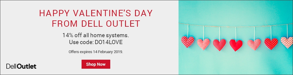 Dell Valentines Deals – 14% off – XPS 15 9570 for £964.95, G3 15 for £647.28 or G5 15 5587 with GTX1060 for-£1,072.29