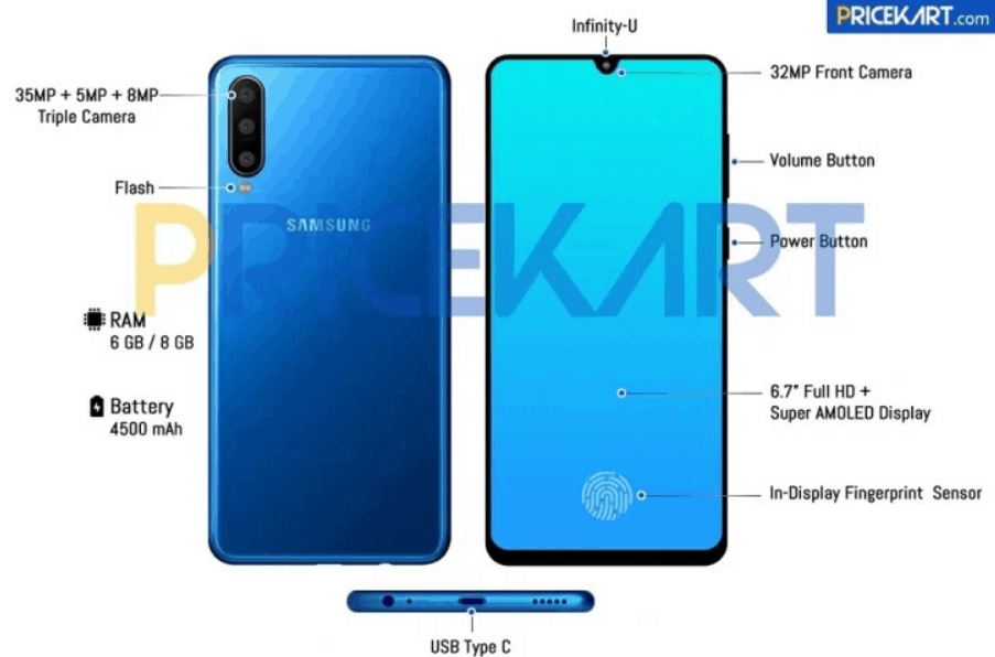 Samsung Galaxy A60 Specifications Leaked: Snapdragon 675, 4,000 mAh Battery 3