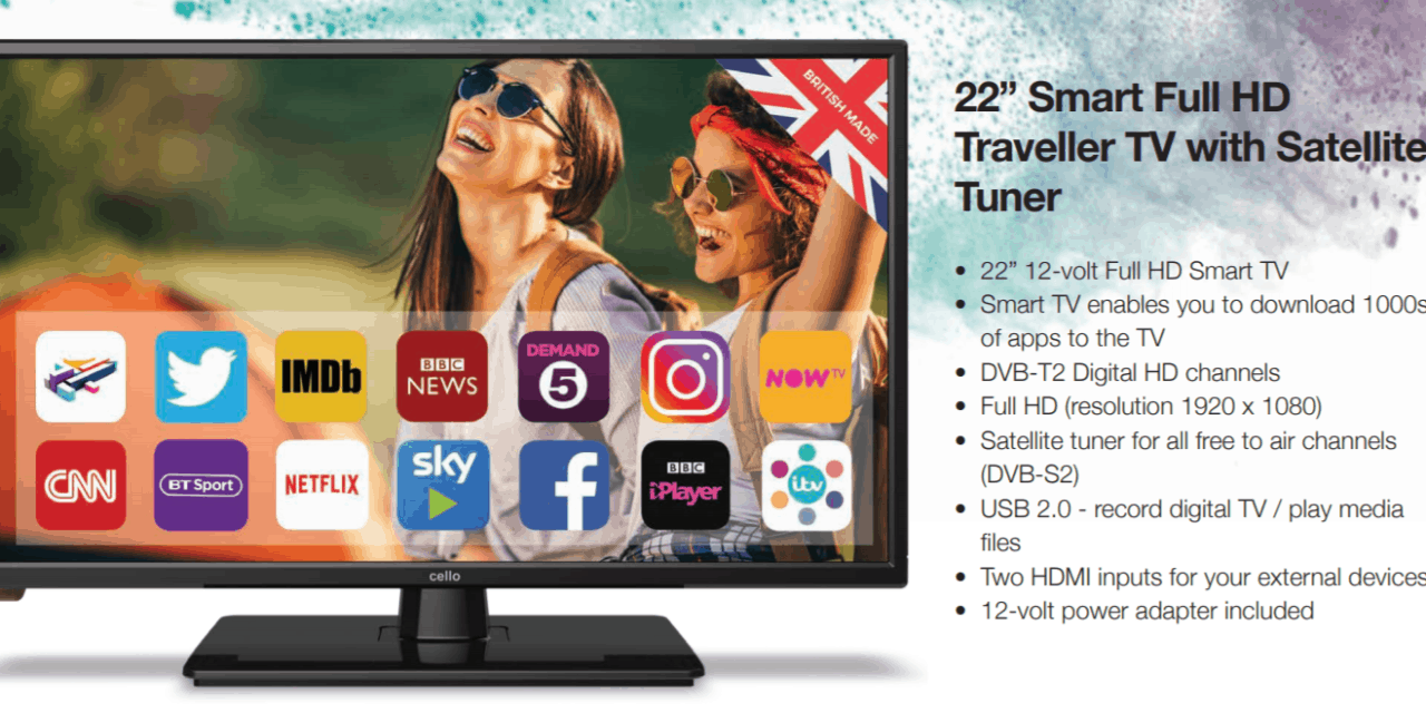 "Cello 22"" Smart Full HD Traveller TV with Satellite Tuner Review – C22230"