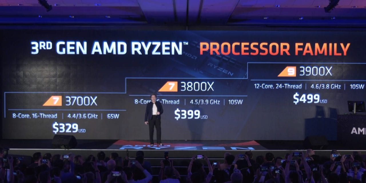 AMD Ryzen 9 3900X 18% faster and half the price vs Intel Core i9 9920x. Available 7/7