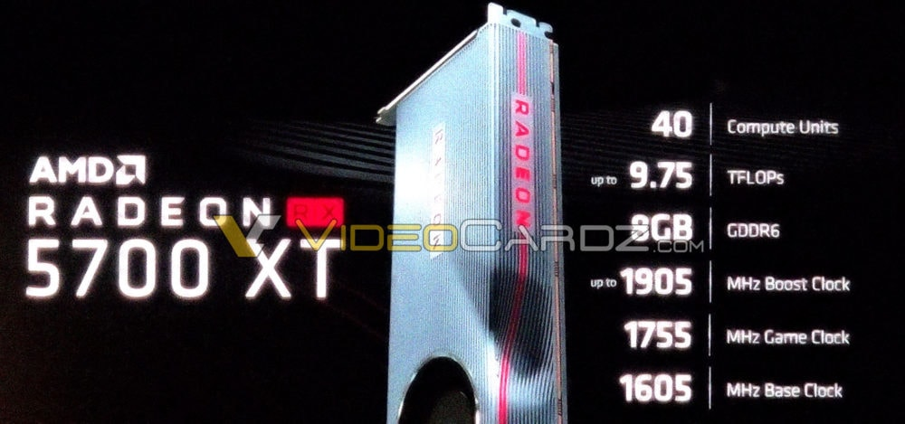 AMD Radeon RX 5700 XT Navi Graphics Card Specification - 2560 Cores, 8 GB GDDR6 VRAM and Up To 1905 MHz Clock Speeds 2