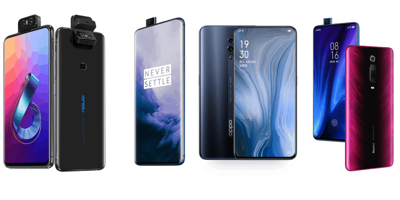 Asus Zenfone 6 vs OnePlus 7 Pro vs Oppo Reno 10x zoom vs Redmi K20 Pro – Which is the best?
