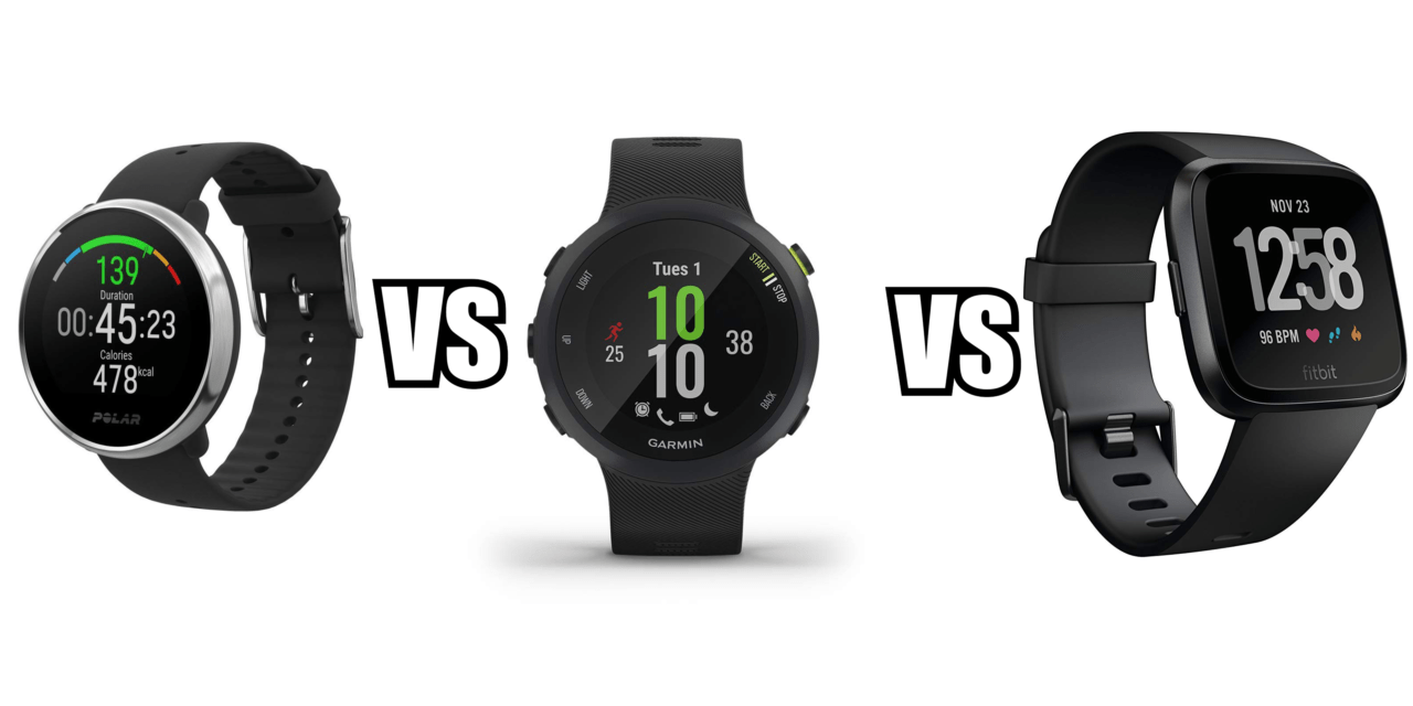 Polar Ignite vs Garmin Forerunner 45 vs Fitbit Versa – Which is the best affordable sports watch?