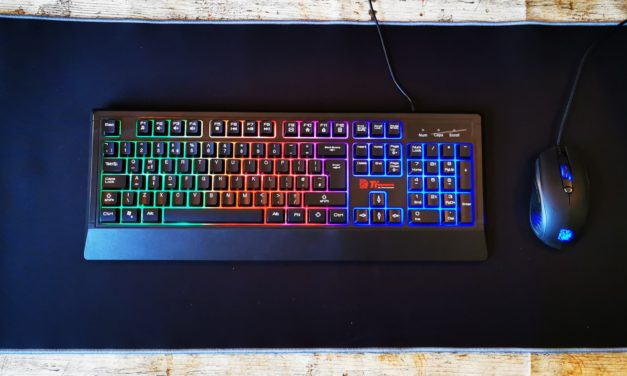 Thermaltake Ttesports Challenger Combo Keyboard and Mouse – Cheap and cheerful membrane keyboard and mouse.