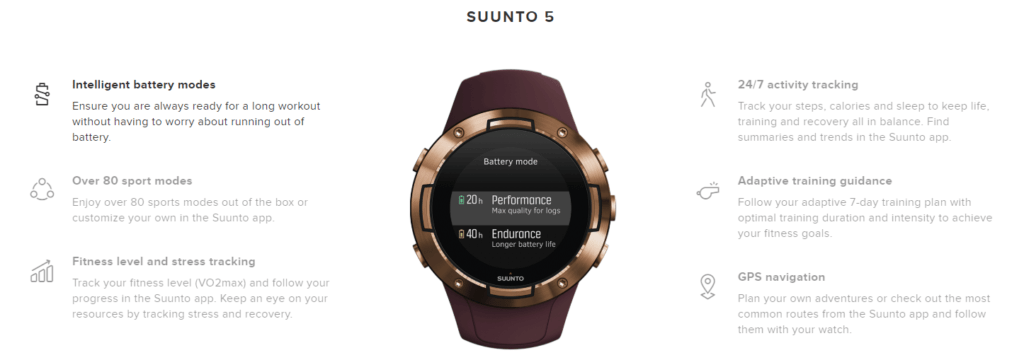 Suunto 5 Review - An affordable running / triathlon watch with an exceptional battery 2