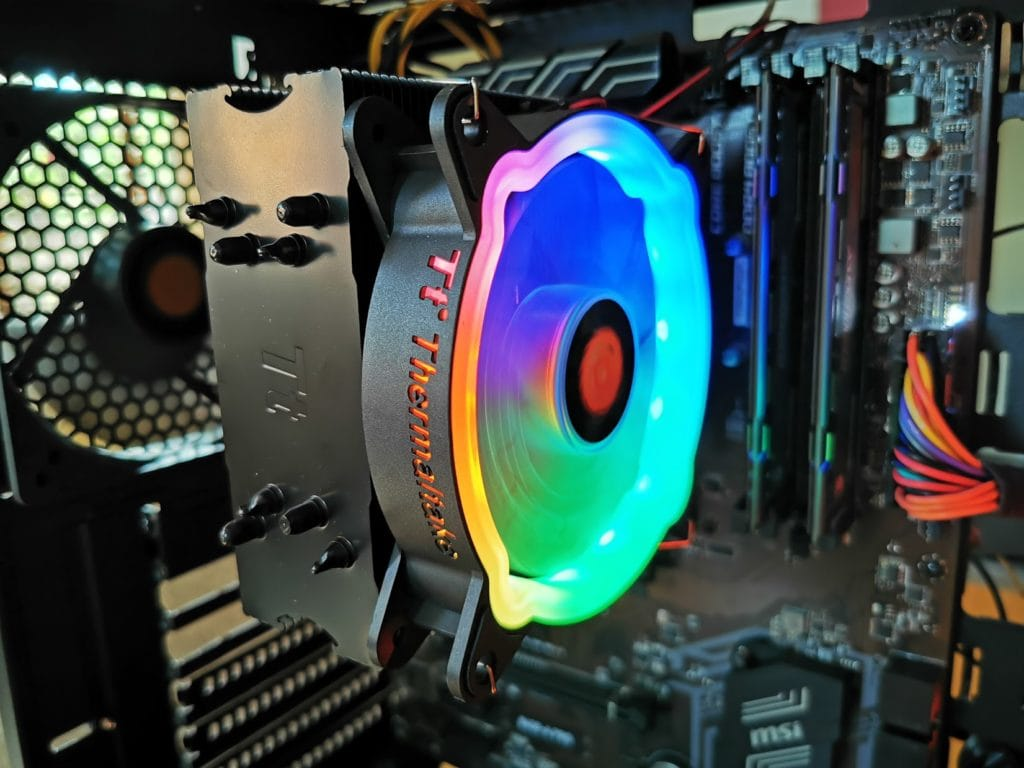 ThermalTake UX200 ARGB CPU Cooler with 120mm ARGB Fan Review 7