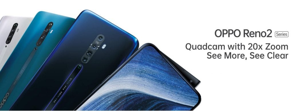 OPPO Reno 2 Series announced less than 6 months after the last one. 20x Hybrid Zoom with Quad Camera
