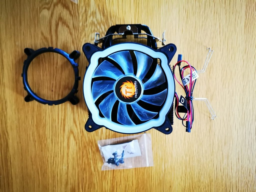 ThermalTake UX200 ARGB CPU Cooler with 120mm ARGB Fan Review 1