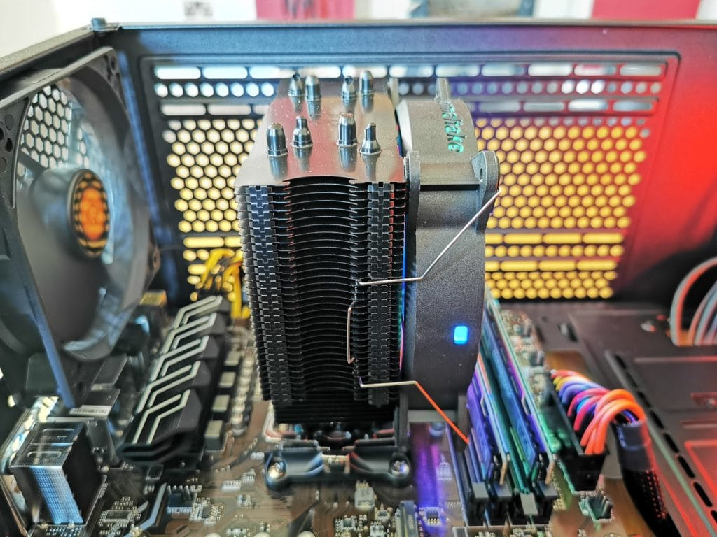 ThermalTake UX200 ARGB CPU Cooler with 120mm ARGB Fan Review 8