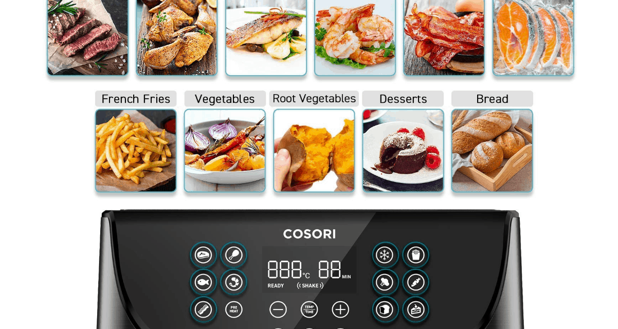 Cosori Air Fryer Review – 3.5L oil-free air fryer for quick low-fat healthy cooking