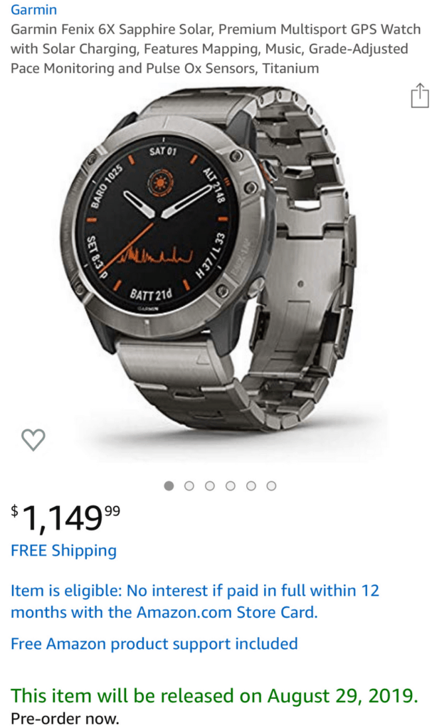 Garmin Fenix 6 Series Leaked includes Pro model and 6x Pro Solar - Key features revealed 22