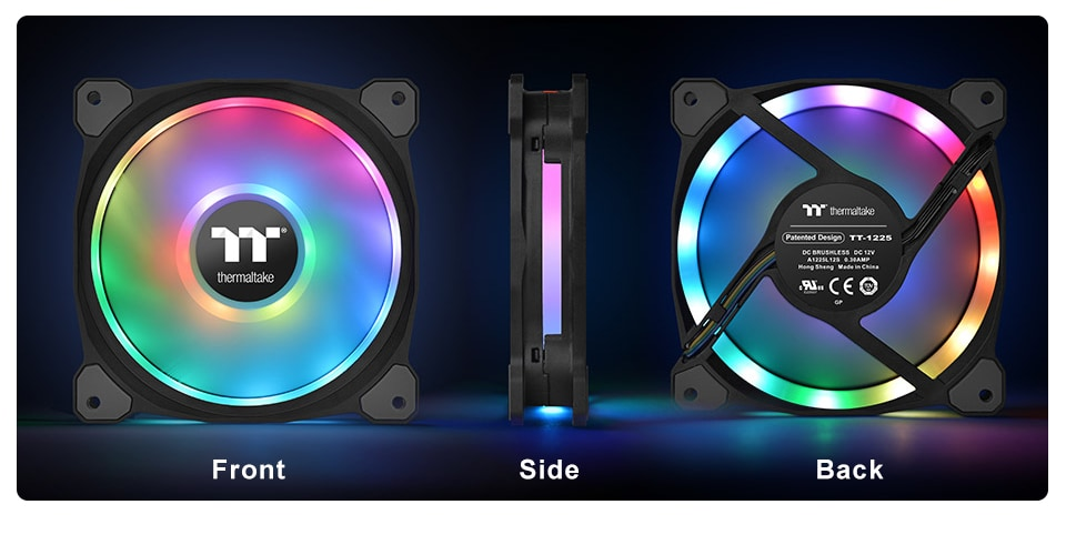 Thermaltake Riing Duo 140mm RGB Radiator Fan 3-Pack Review – Software controlled RGB PWM fans 2