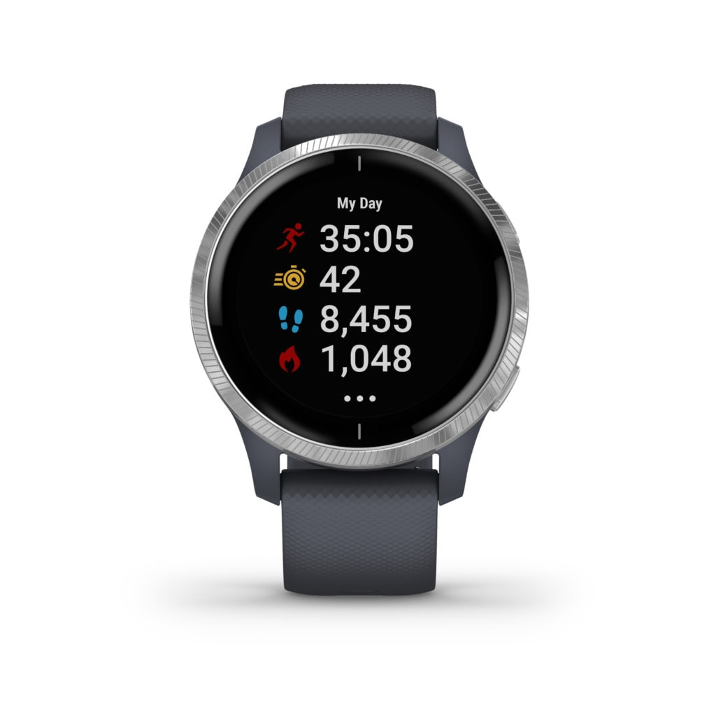 What is the Garmin Venu and how does it compare to the Vivoactive 4 6