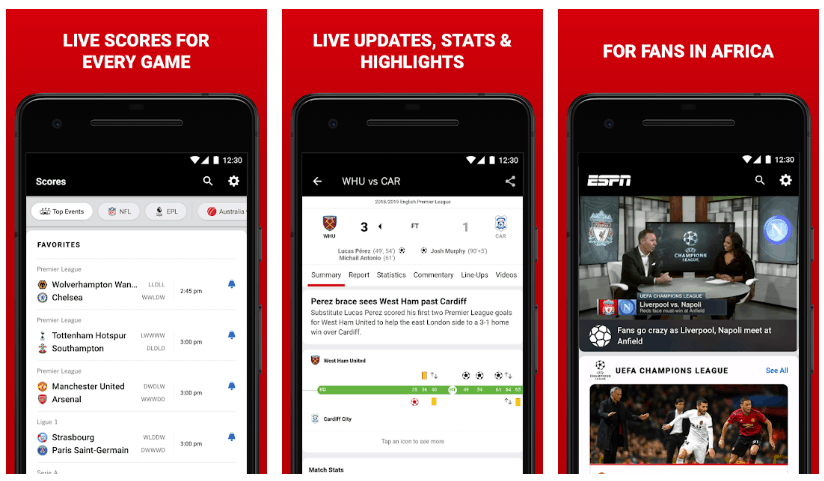 The Best Sporting Apps to Keep Track of the Football on Android 5