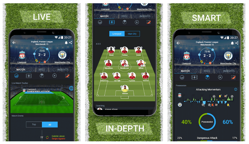 The Best Sporting Apps to Keep Track of the Football on Android 3