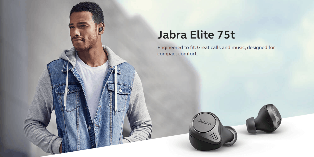 Jabra Elite 75t true wireless earbuds launched at IFA with an impressive to 7.5 hours battery