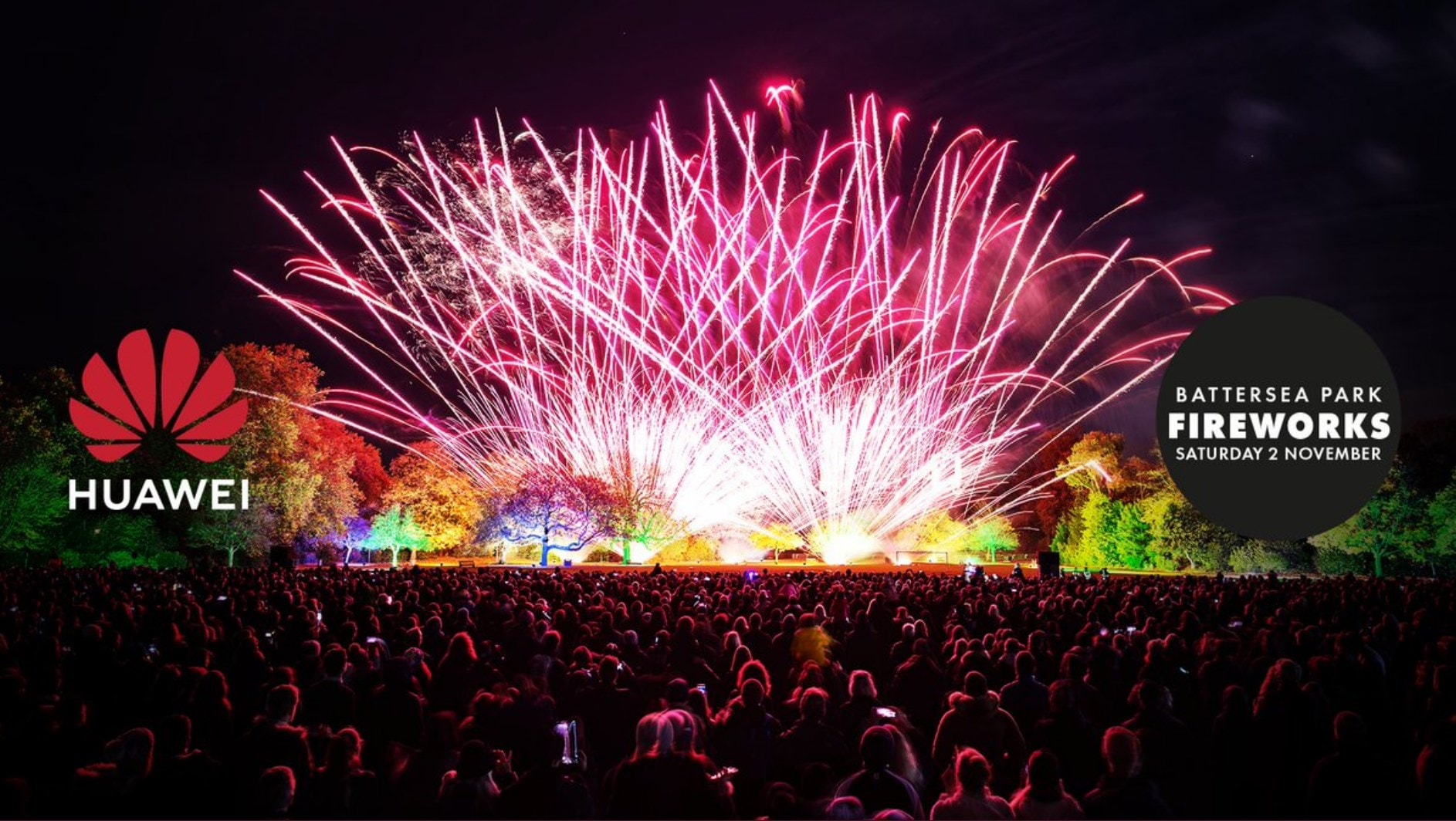 Win 1 of 200 pairs of tickets for the Battersea Park Fireworks 2019 with Rudimental thanks to Huawei